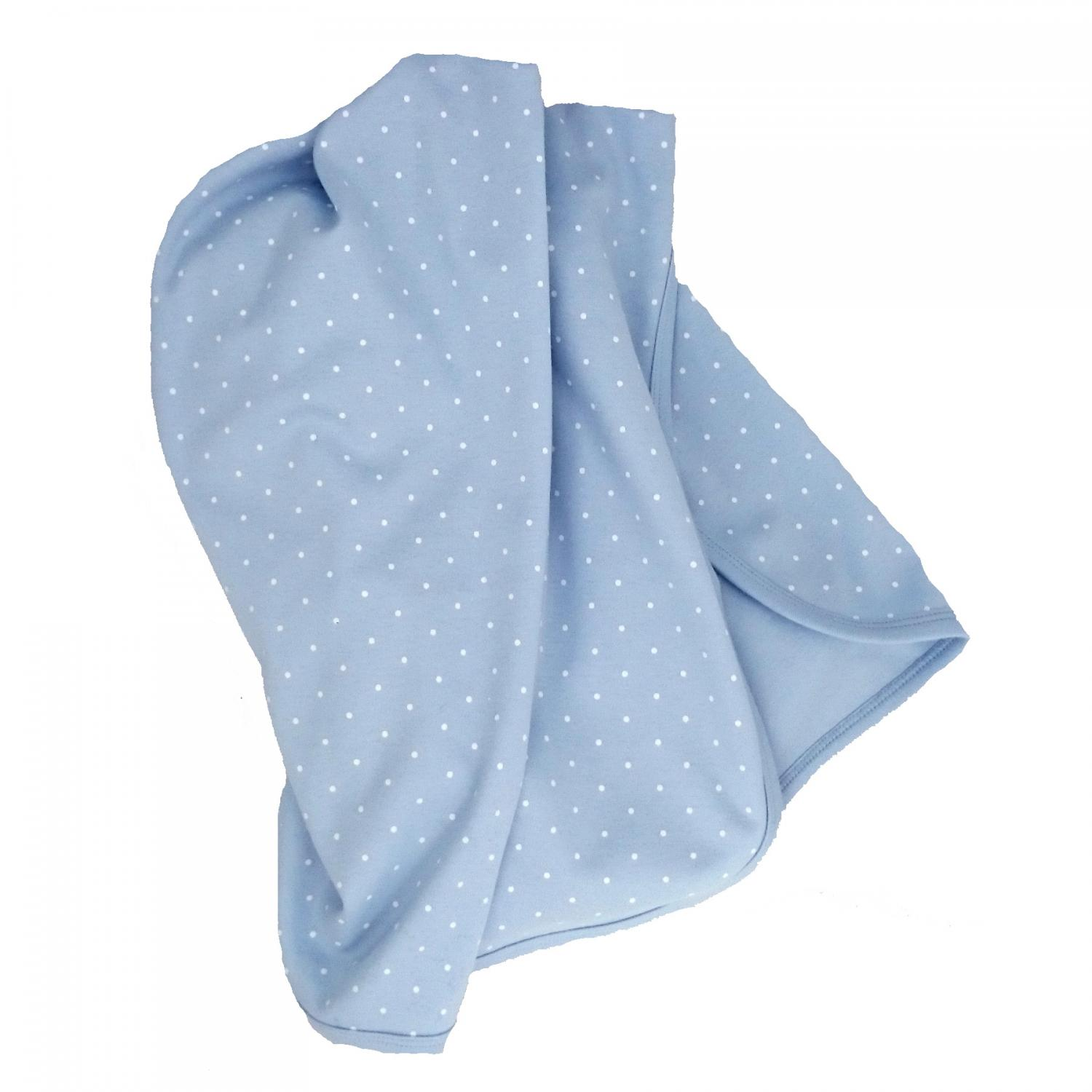 Babyblanket blue dotty