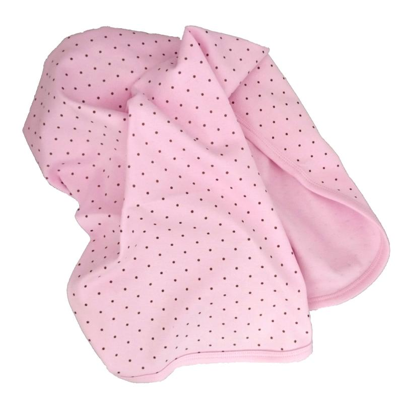 Babyblanket pink dotty