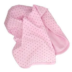 Babyblanket pink dotty