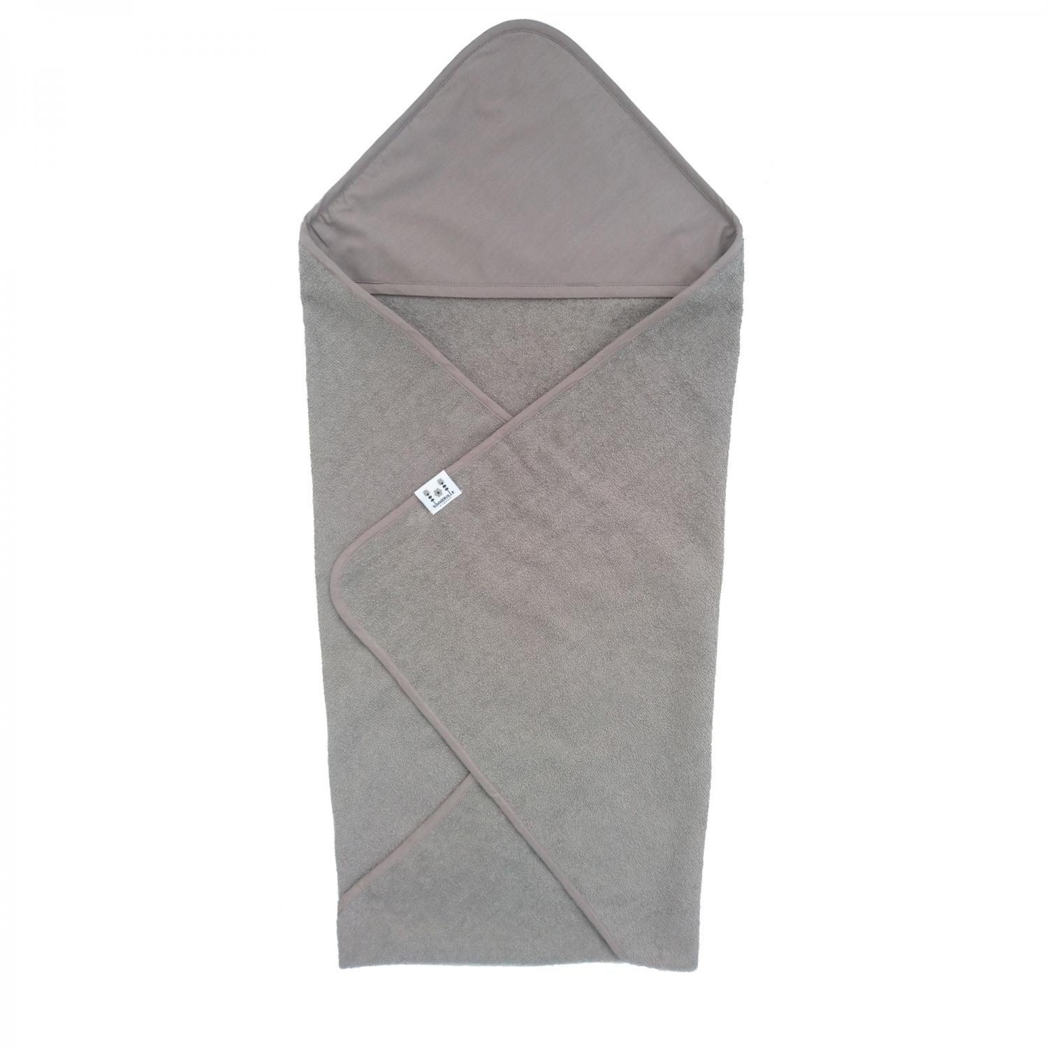 Hooded towel style grey