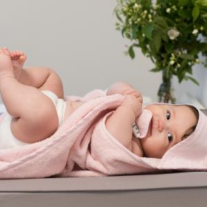 Hooded towel style pink