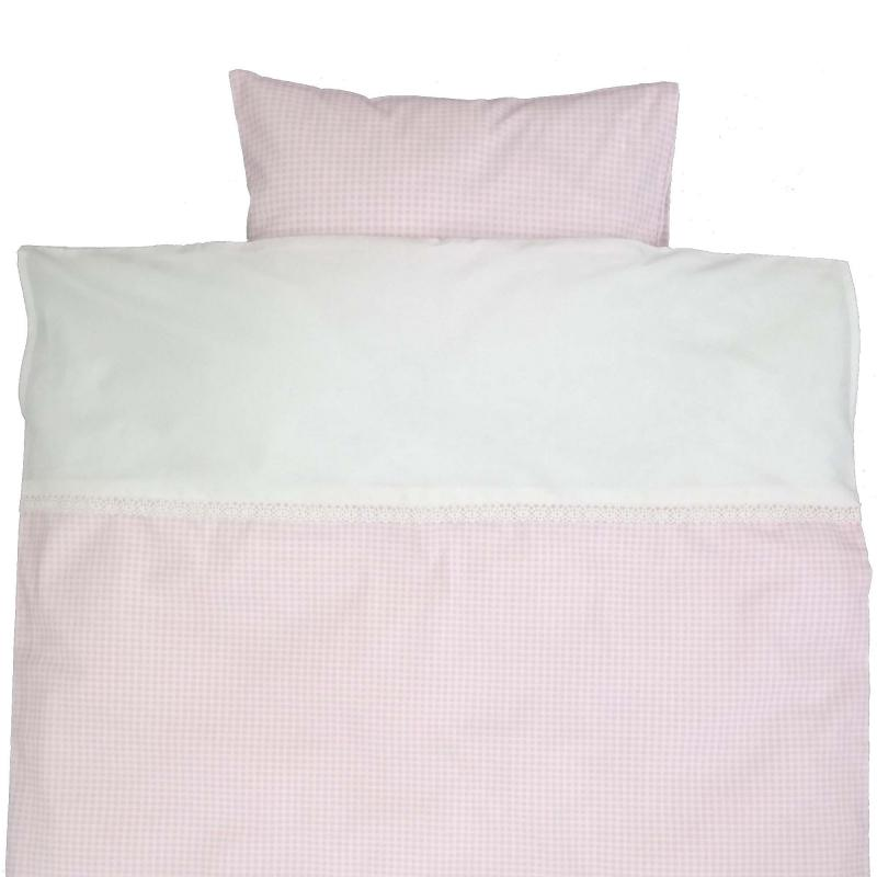 Bedding junior gingham pink