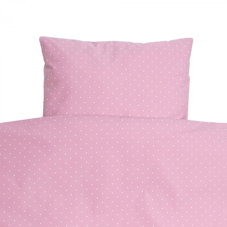 Bedding junior soft pink dotty