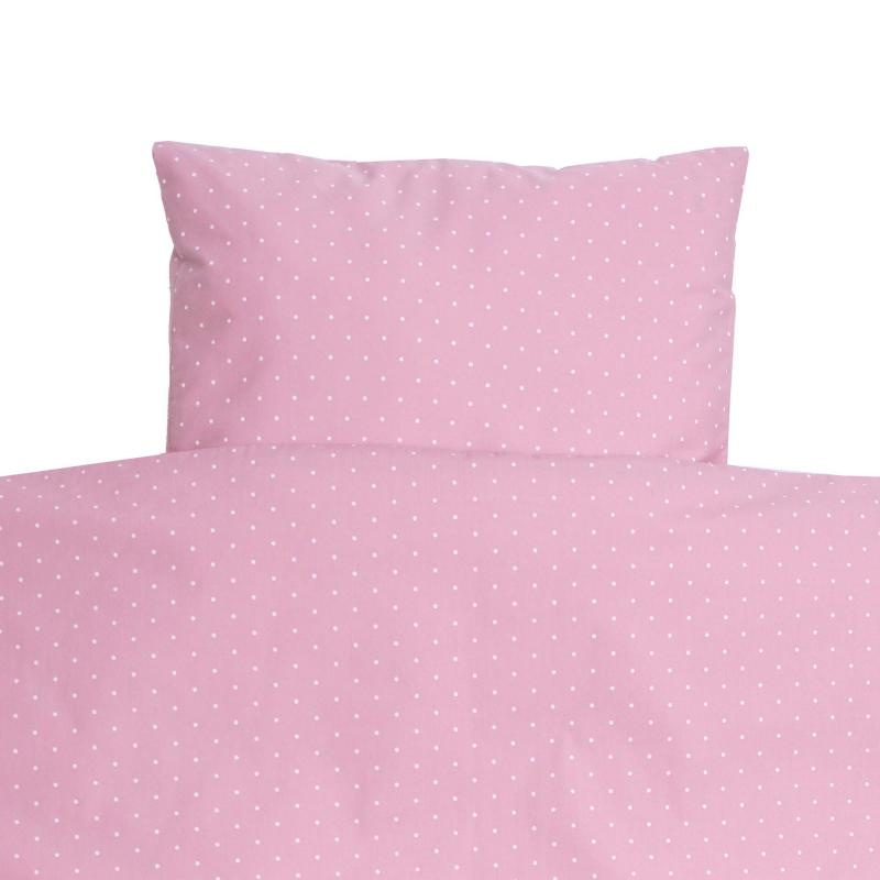 Bedding junior soft pink dotty