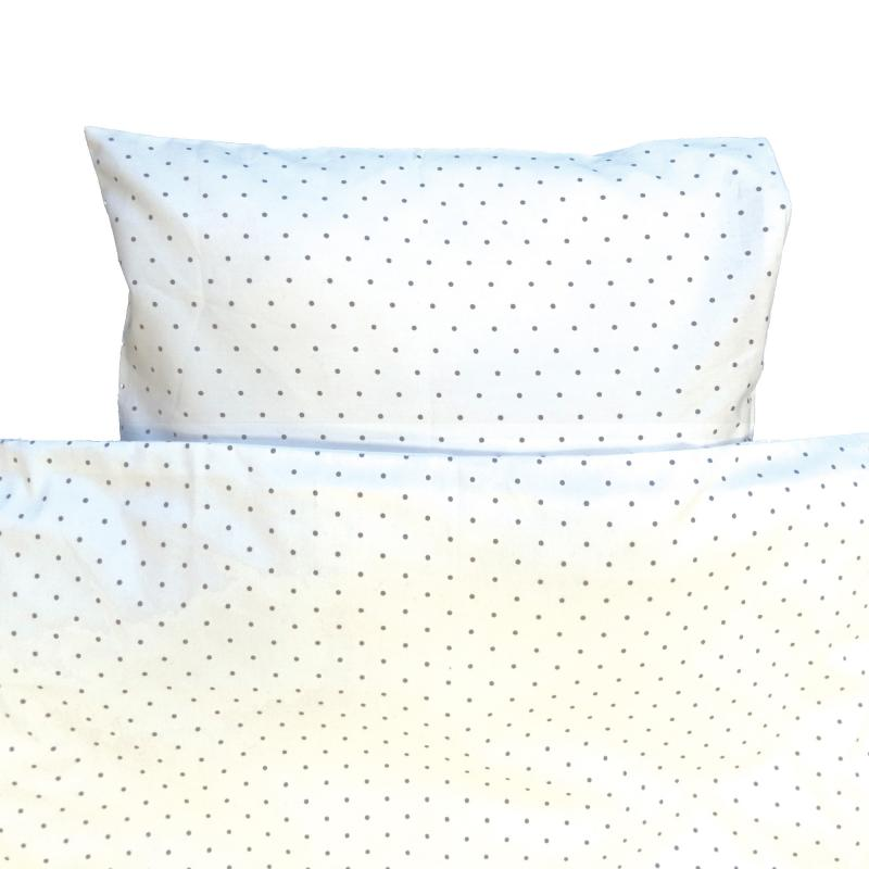 Bedding junior white dotty