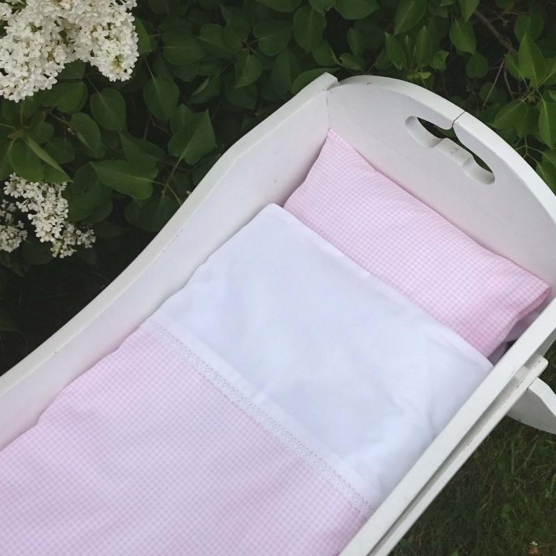 Bedding baby gingham pink