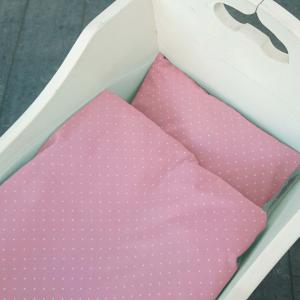 Bedding baby soft pink dotty