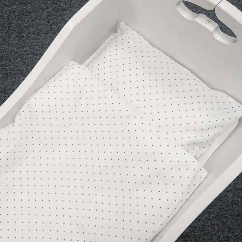Bedding baby white dotty