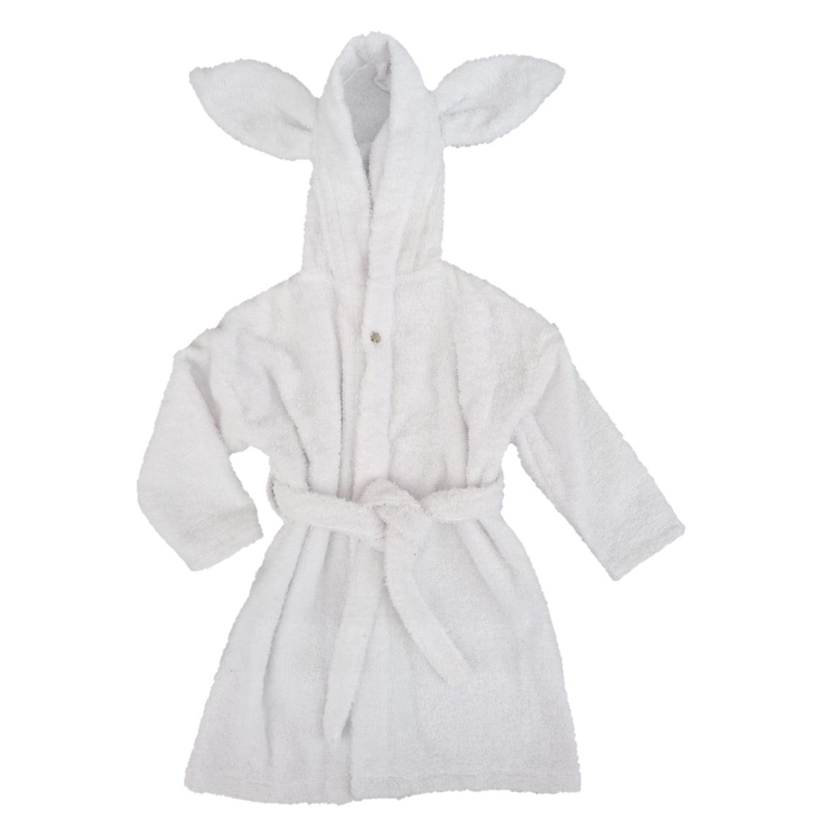 Bath robe rabbit white