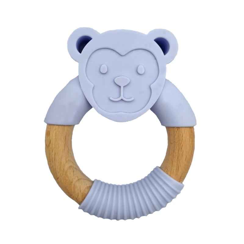 Teether monkey purple