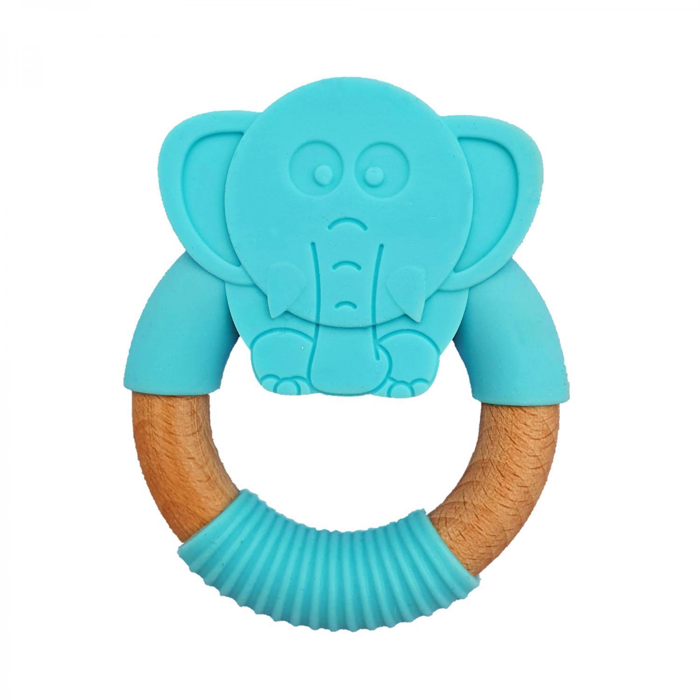 Teether elephant blue