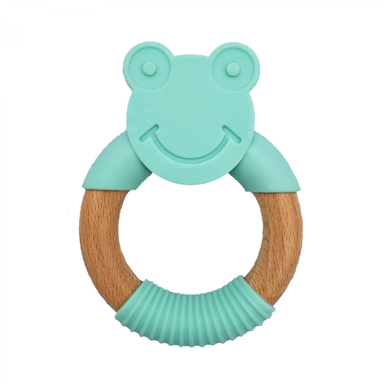 Teether frog green