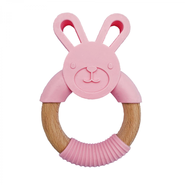 Teether rabbit pink