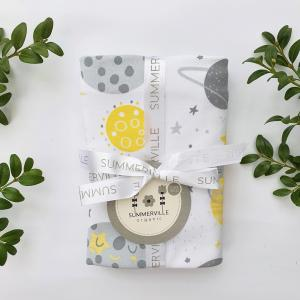 Babyblanket moon yellow