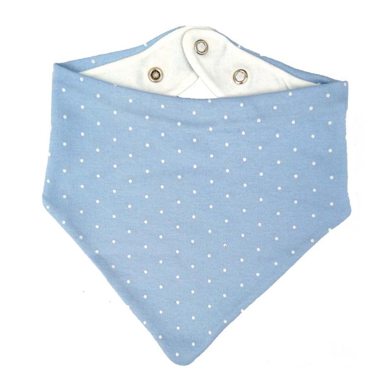 Drybib blue dotty