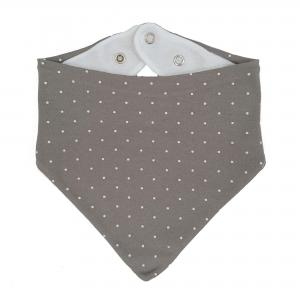 Drybib grey dotty