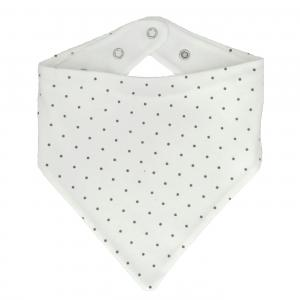 Drybib white dotty