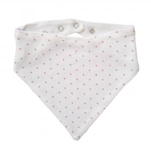Drybib white/pink dotty