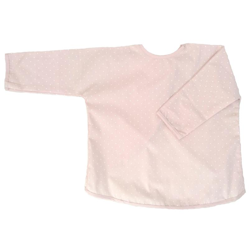 Apron pale pink dotty