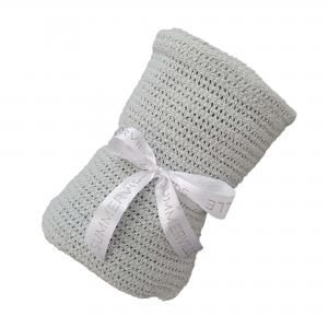 Cellular blanket silver grey