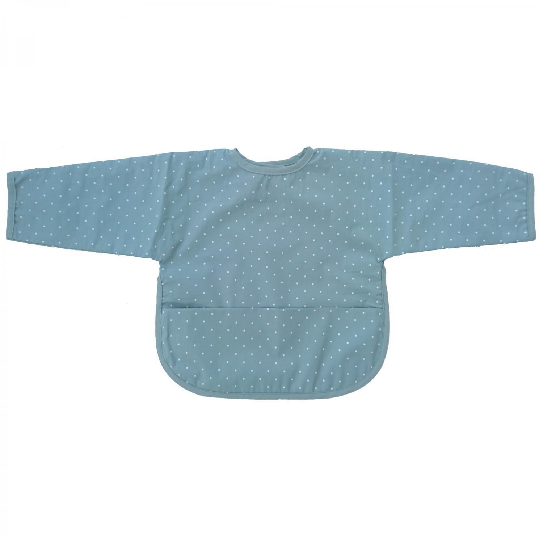 New 3Pck Blue Welcro Fastened Bibs-100/% Cotton UK Manufacturer