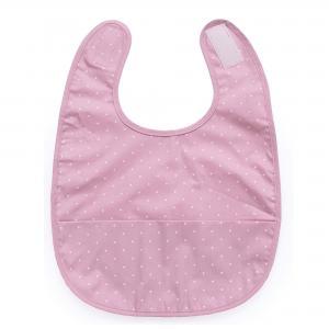 Bib soft pink dotty