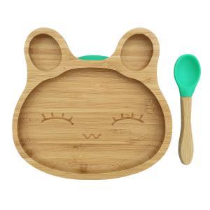 Bamboo tableware rabbit green