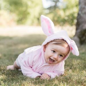 Bath robe rabbit pink