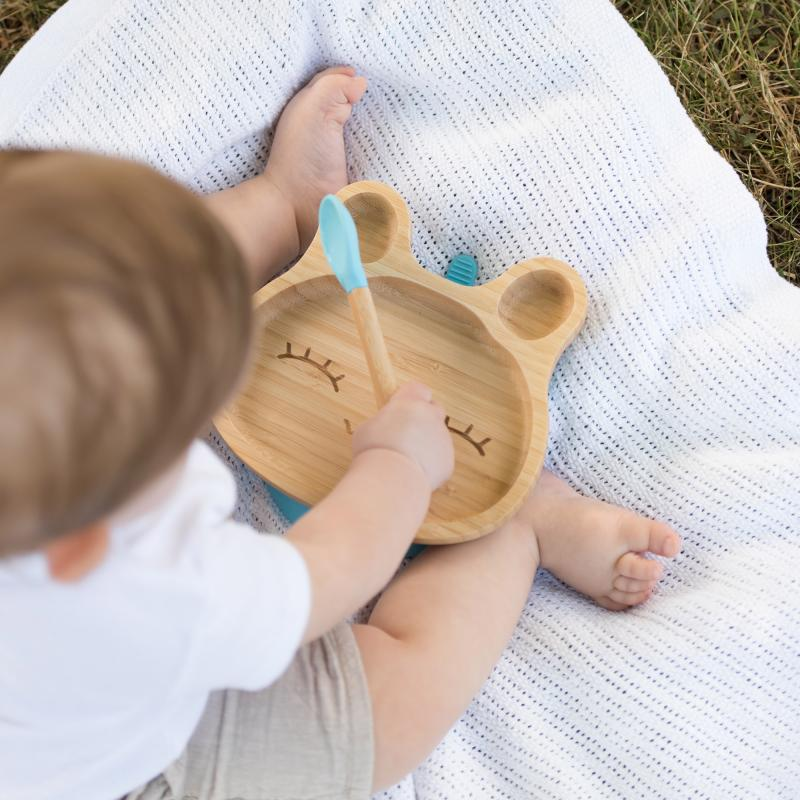 Bamboo tableware rabbit blue