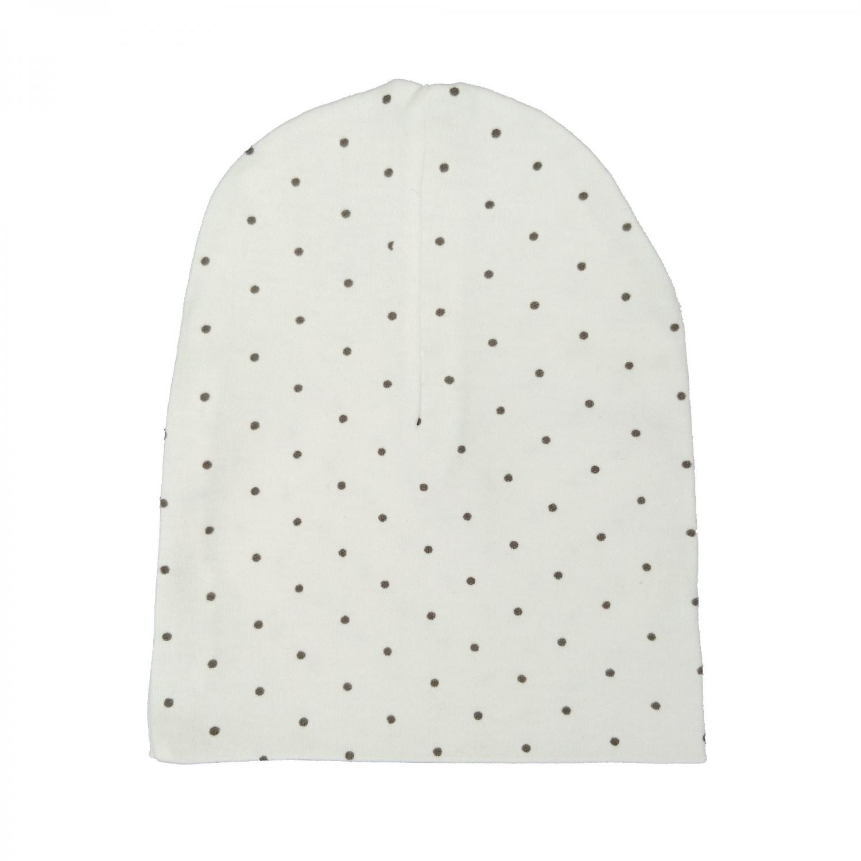 Hat white dotty