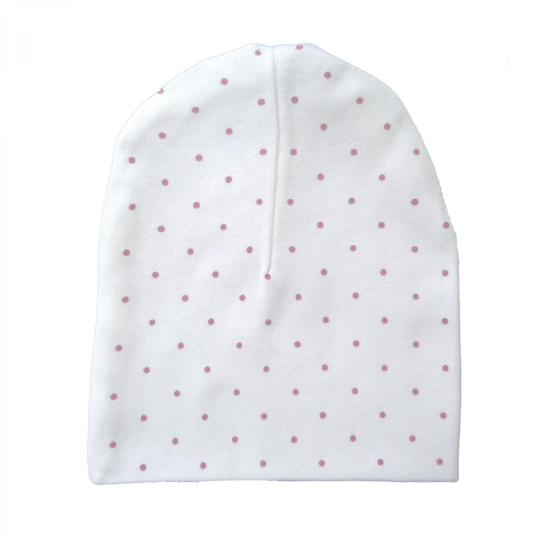 Hat white/pink dotty