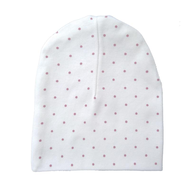 Hat white/pink dotty