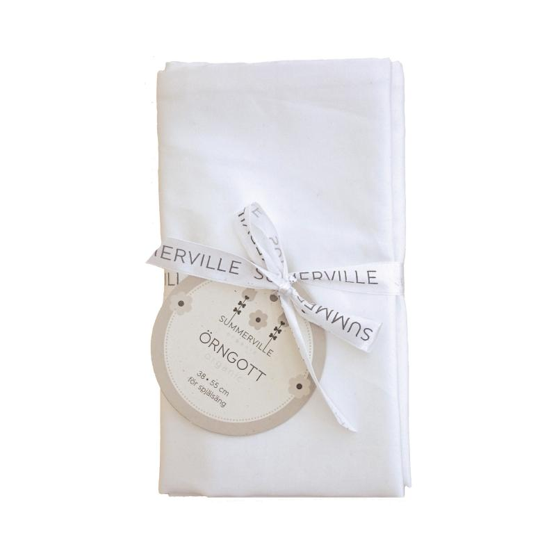 Pillow case 2 pcs junior white