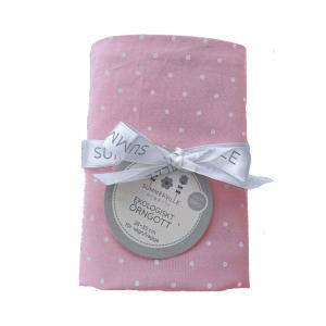 Pillow case junior soft pink dotty