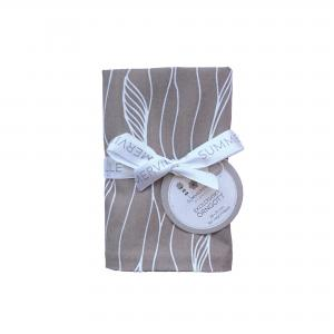 Pillow case baby grey twist