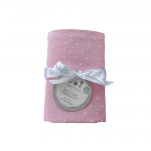 Pillow case baby soft pink dotty