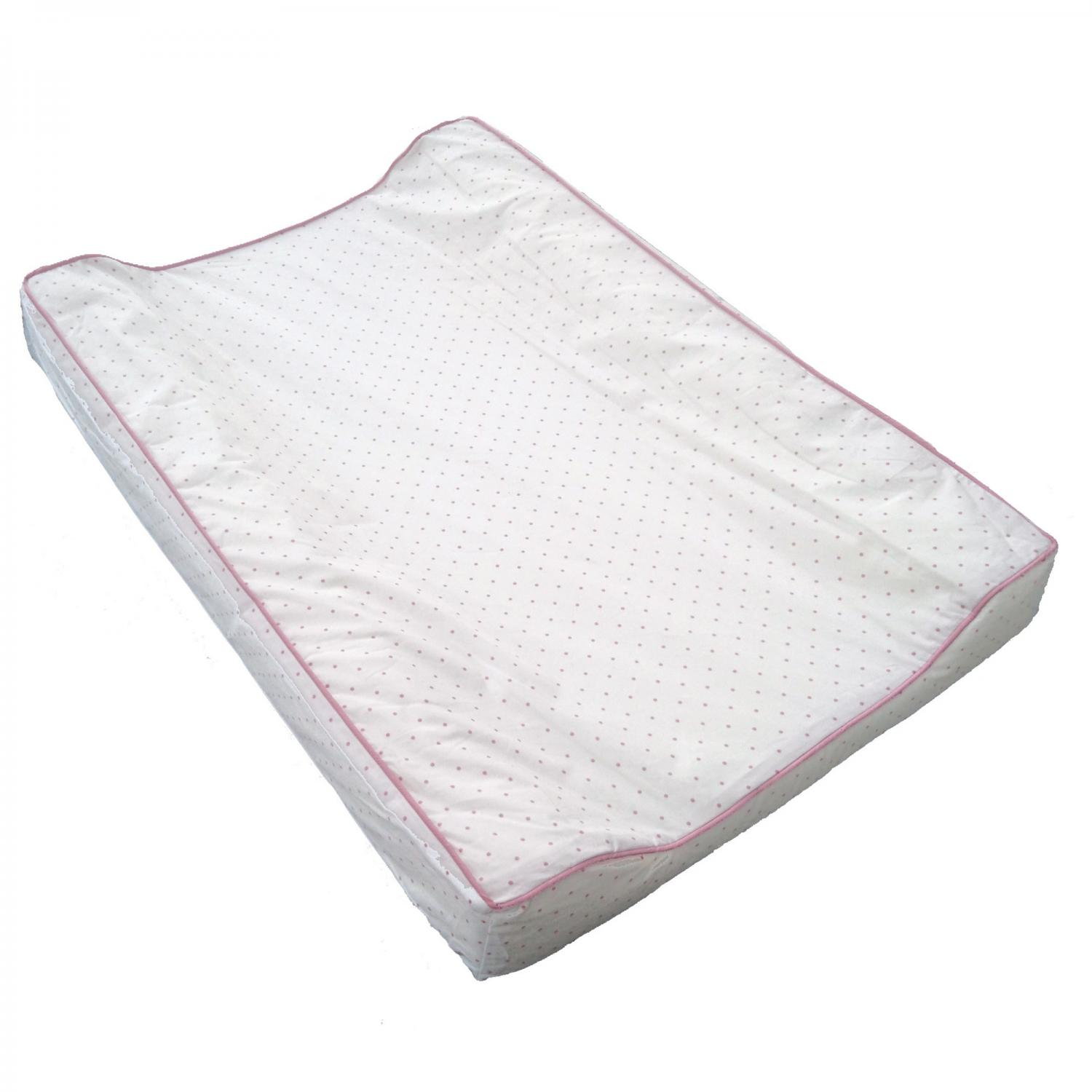 Changing pad white/pink dotty