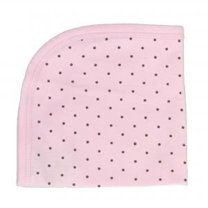Blankie pink dotty