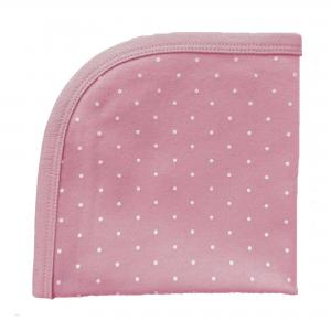 Blankie soft pink dotty