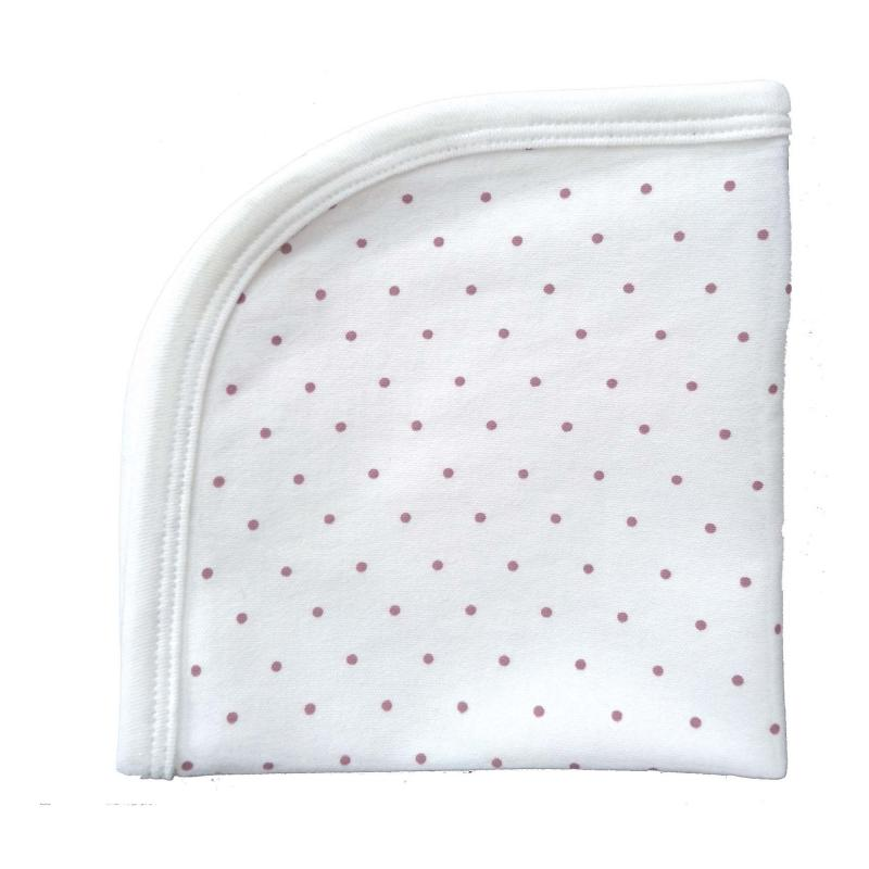 Blankie white/pink dotty