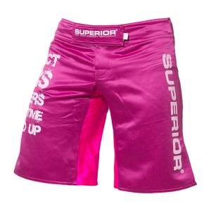 Superior Wear Womens Shorts MMA I Collect Scars Cerise