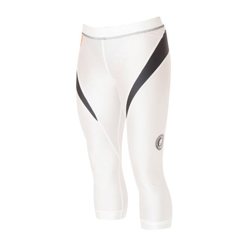 Superior Wear Womens Three-Quarter Compression Tights G1 White/Black