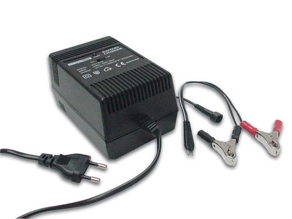 Batteriladdare för 6V- eller 12V-batterier