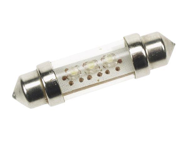 LED-lampa för bil, blå, 3 LEDs , 12V, 2 pack