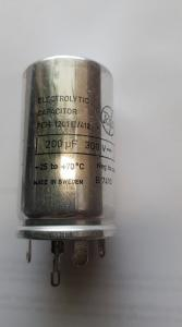 Kondensator 200uF 300V   Elektrolyt  Rifa