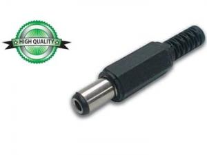 DC-plugg 2,5 mm - kort 9,5 mm