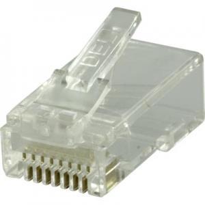 RJ45 kontakt för patchkabel, Cat6 UTP, 2-delad