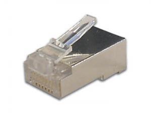 Modularkontakt RJ45 8pol skärmad, 10st
