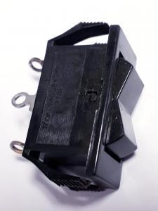 Vaggomkopplare Till - Från - Till, 1 Pol 2 Vägs, svart
