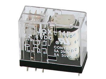 Relä 24 VDC, 2 Pol VX 5A